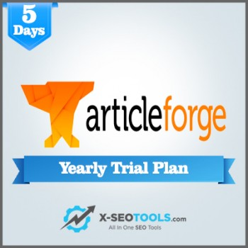 Article Forge Yearly Trial Plan Valid for 5 Days [Private Login]