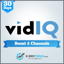 vidIQ Boost 5 Channels Trial Plan Valid for 30 Days [Private Login]